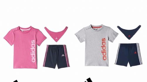 adidas baby infant Gift Pack T-shirt, Shorts & Bib each with adidas logo BNWT